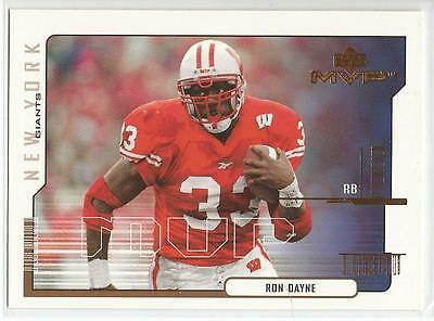 RON DAYNE 2000 UD MVP ROOKIE card #199 Wisconsin Badgers New York Giants NR MT