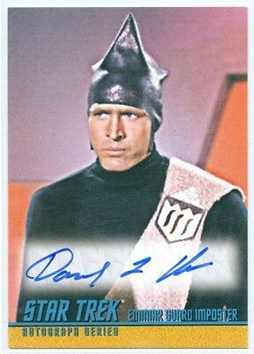 "David L Ross ""guard Autograph Card #a263"" Star Trek Tos Portfolio Prints"