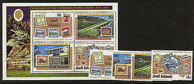 Cook Islands 108-11a MNH Stamp on Stamp, Aircraft, UPU
