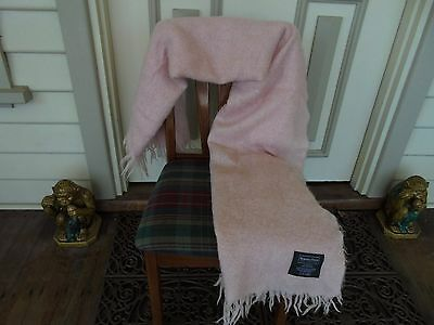 Morgan & Finch Pure Mohair Pale Pink Wool Blanket Throw Rug Made In Australia