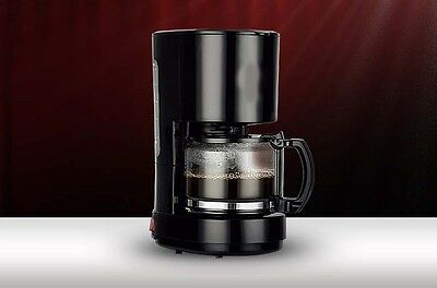 New Black Plastic Capacity 0.6L Home Office Fully-Automatic Coffee Maker *