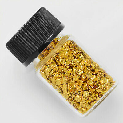 1 Gram Alaska Natural Gold Nuggets - with Free GLASS BOTTLE (#1gB3)