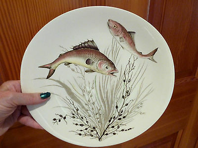 Johnson Bros FISH Oval Dinner Plate Design # 3 Made in England VGC