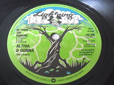 """Althia and Donna  Uptown Top Ranking LIGHTNING  7"""" vinyl single 45 rpm clean EX+"""