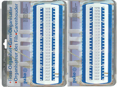 Two Floss Organiser Pako 705.060 (Embroidery Thread) with 10 Blank Cards