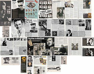 JOHNNY CASH : CUTTINGS COLLECTION -interviews adverts-