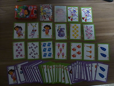 Old Playing Cards - Dora the Explorer Nick Jr. - Complete w/Box and Jokers - Exc