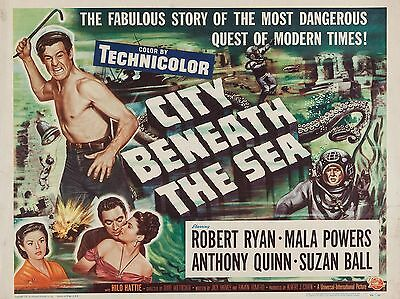 "City Beneath the Sea 16"" x 12"" Reproduction Movie Poster Photograph"