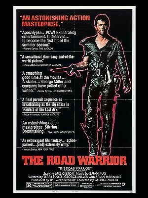 "Mad Max 2 The Road Warrior 16"" x 12"" Reproduction Movie Poster Photograph 1"