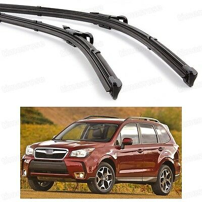 2Pcs Car Front Windshield Wiper Blade Bracketless for Subaru Forester 2014-2015