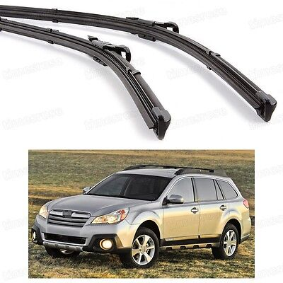 2Pcs Car Front Windshield Wiper Blade Bracketless for Subaru Outback 2010-2014