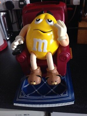 M&M Candy Dispenser Yellow M&M In Chair 1999