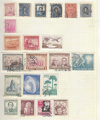CHILE On old Album Page MINT/USED