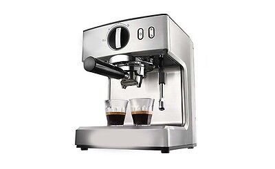 New Silvery Capacity 2.1L Home Office Commercial Semi-Automatic Coffee Maker &