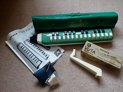 HOHNER VTG MELODICA-SOPRANO . Carry Case Instn Book & 2 extra mouth pieces.