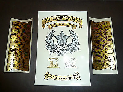 The Cameronians Drum Emblazon Transfers Scottish,Military Decal