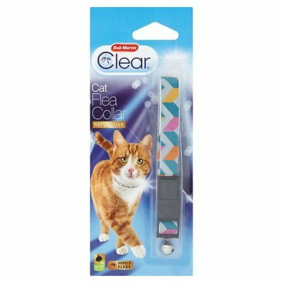 Bob Martin Flea Clear Reflective  Cat Flea Collar Aztec With Bell & Safety Clip