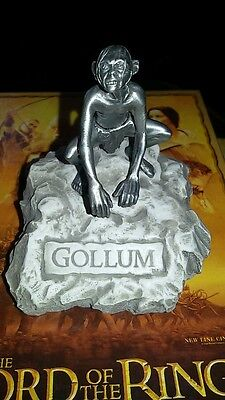 Lord of the rings pewter figure. Gollum  Rare