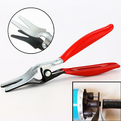 Red New Angled Car Fuel Vacuum Line Tube Hose Remover Separator Pliers Pipe Tool