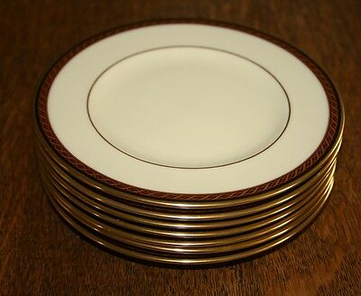 """Lenox Monroe Presidential Collection Set of 7 Side Plates 6½"""" Dia  - SUPERB"""