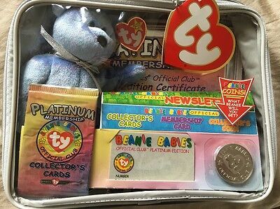 Ty Beanie Baby Official Club Platinum Membership Pack NEW SEALED