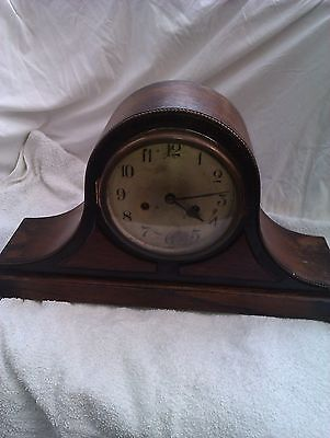 A Large Napoleon Hat Chiming Mantle Clock In Full Working Order