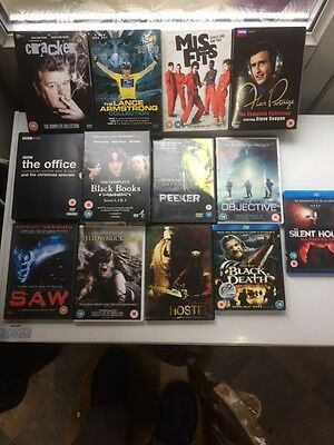 Job Lot Of Dvds And Blu-Rays, 13 Mixed