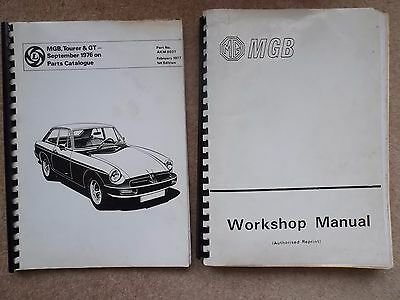 MGB Workshop Manual and MGB, Tourer & GT Sep 76 on Parts Catalogue