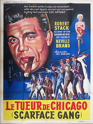 The Scarface Mob Phil Karlson Robert Stack Movie Poster