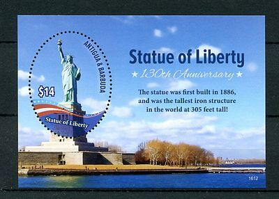 Antigua & Barbuda 2016 MNH Statue of Liberty 130th 1v S/S Architecture Stamps