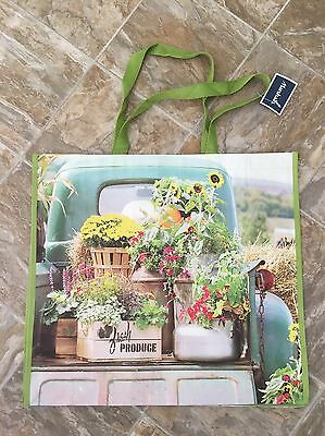 NEW Spring Flowers Shopping Bag Reusable Eco Gift Tote FRESH PRODUCE NWT
