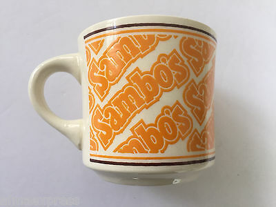 Vintage Sambo's Restaurant Coffee Mug, Made in USA, Excellent