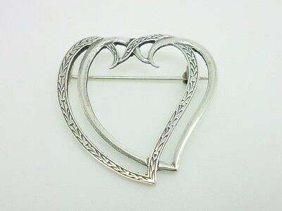 Gorgeous Vintage Scottish Sterling Silver Luckenbooth Sweetheart Brooch