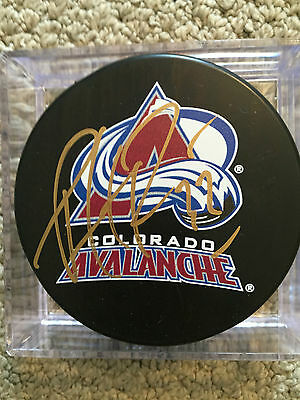 Patrick Roy Avalanche Signed Puck/coa
