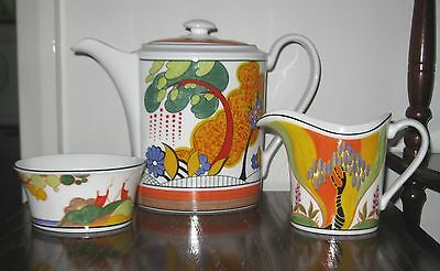 Wedgwood Connoisseur Collection by Clarice Cliff Coffee Set ~ Limited Edition