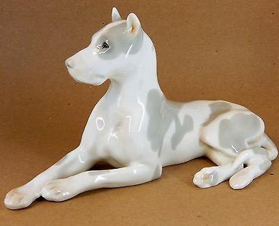 Vintage Great Dane DOG Porcelain  Figurine Lomonosov