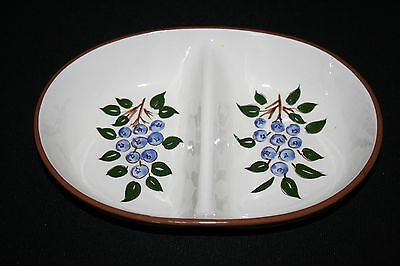 Stangl Blueberry 10.5 Inch Divided Serving Dish