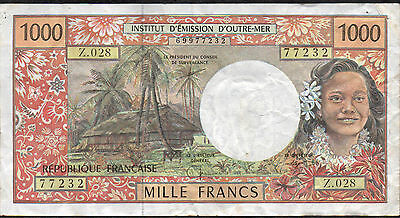 French Pacific Territories , 1000 Francs , ND. 1996 , P 2 , Series Z.028