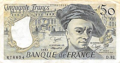 France 50 Francs 1983 Series D.32 circulated Banknote , G E1