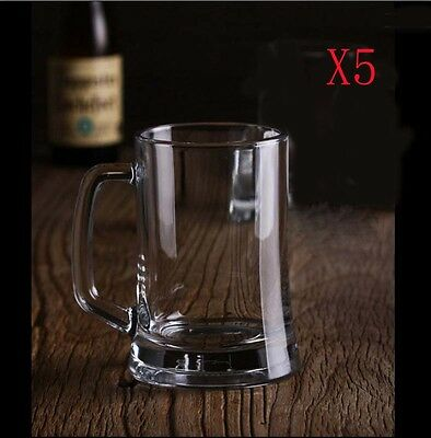 New 5X Capacity 395ML Height 135MM European Beer Wine Glass/Glassware %