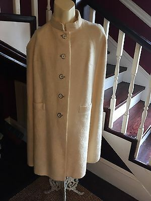 Vintage Lord & Taylor Swing Cape Coat 50 s Rockabilly size Large L Wool Champane