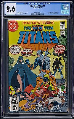 New Teen Titans #2 CGC 9.6 (NM+) White pages - 1st app. of Deathstroke