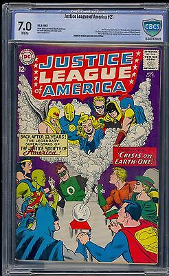 Justice League of America #21 CBCS 7.0 (FN/VF) White pgs - 1st JSA in Silver Age