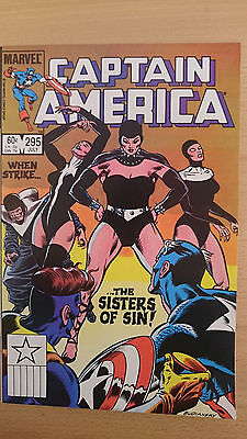 Marvel comics Captain America #295 July 1984 NM 1st print