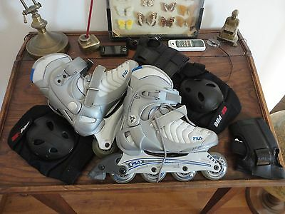 rollers fila taille 39 et protections