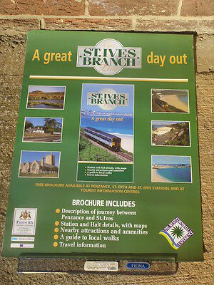 Wales & West A2 poster c1998 Cornish Branch St Ives  Class 150 Regional Railways