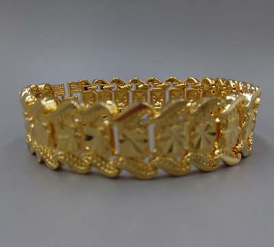 100% Men's Heavy Jewelry Solid 14K Yellow Gold Jewelry Gold Bangle