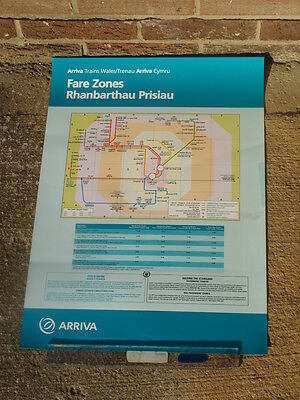 Arriva Trains Wales Valley Lines Cardiff A2 poster map 2005 journey planner