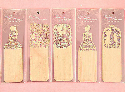 Brand New Delicate Laser Cut Wood Bookmarks for Books Magazines Gifts UK Seller