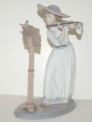 Lladro Porcelain **song Bird** Large Retired Figurine With Original Box - 6093